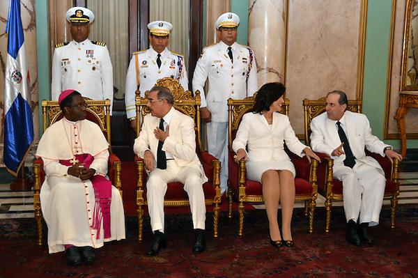 Recibimiento del nuevo nuncio apost&oacute;lico Jude Thaddeus Okolo por el presidente Danilo Medina.<br /> Foto: Ariel D&iacute;az-Alejo/acento.com.do. <br /> Fecha: 26/11/2013.