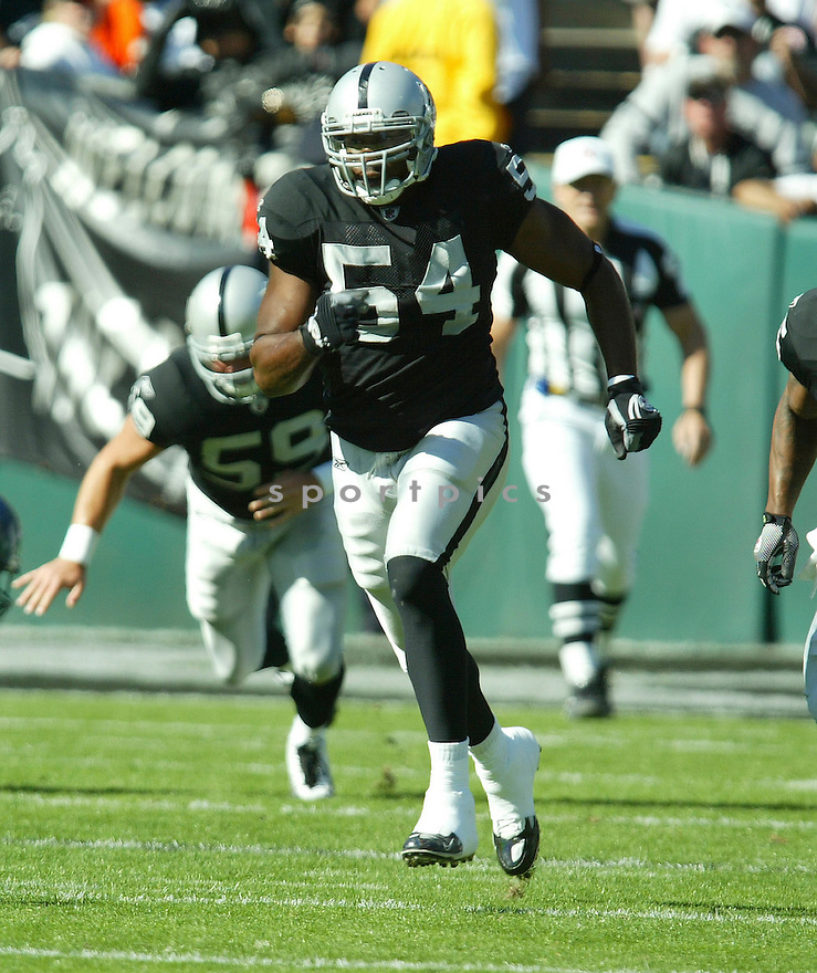 SAM WILLIAMS, of the Oakland Raiders, in action during the Raiders  game against the Seattle Seahawks on October 31, 2010 at Oakland-Alameda County Coliseum in Oakland, California.  .The Raiders beat the Seahawks 33-3...