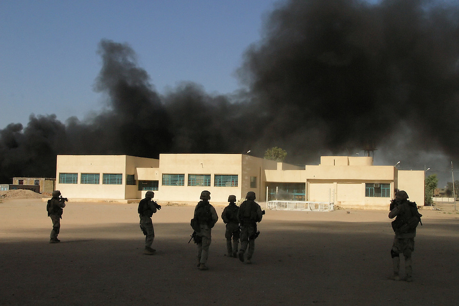 Scenes from the fighting during the August 2004 Battle of Najaf - a month-long clash between US Marines and soldiers and the fighters of the Mehdi Army in the Shiite holy city of Najaf.
