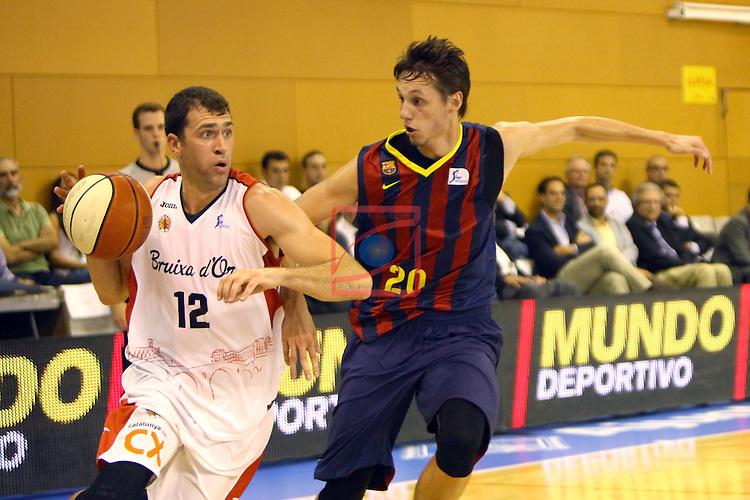 Regal XXXV Llia Nacional Catalana ACB 2014-Semifinals.<br /> FC Barcelona vs La Bruixa d'Or Manresa: 82-66.<br /> Ben Dewar vs Markus Eriksson.