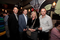 NO REPRO FEE. 8/11/2011. The Counter Celebrates its first birthday. Pictured at the Counter Burber Restaurant on Suffolk St Dublin are Gregory Curren, Jonathan Parkhill, Louise Collins and Alan Ellis.  Picture James Horan /Collins