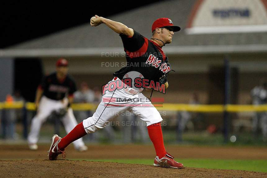 Batavia Muckdogs pitcher Ethan Cole #12 during a game against the Mahoning Valley Scrappers at Dwyer Stadium on August 20, 2011 in Batavia, New York.  Batavia defeated Mahoning Valley 5-4.  (Mike Janes/Four Seam Images)