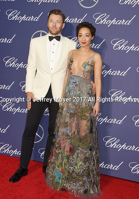 PALM SPRINGS, CA - JANUARY 02: Actor Joel Edgerton (L) and actress Ruth Negga attend the 28th Annual Palm Springs International Film Festival Film Awards Gala at the Palm Springs Convention Center on January 2, 2017 in Palm Springs, California.