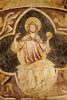 Europe/France/Poitou-Charentes/86/Vienne/Poitiers: Baptistère Saint-Jean - Peinture murale XIII ème siècle, Christ  en gloire