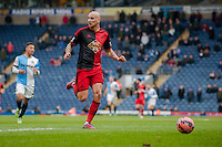 BLACKBURN, ENGLAND - JANUARY 24:  Jonjo Shelvey of Swansea City cheeks over his shoulder  during the FA Cup Fourth Round match between Blackburn Rovers and Swansea City at Ewood park on January 24, 2015 in Blackburn, England.  (Photo by Athena Pictures/Getty Images)