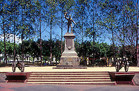 Statue of Costa Rican hero Juan Santamaria in the town of Alajuela, Costa Rica