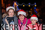 Ciara, Breda and Padraig Casey Beaufort at the Christmas in Killarney parade on Friday night