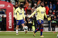 1st March 2020; Estadio Santiago Bernabeu, Madrid, Spain; La Liga Football, Real Madrid versus FC Barcelona; Antoine Griezmann (FC Barcelona)  Pre-match warm-up