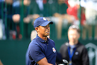 Tiger Woods (USA) on the practice range before the USA Team photo shoot during Monday's Practice Day of the 39th Ryder Cup at Medinah Country Club, Chicago, Illinois 25th September 2012 (Photo Eoin Clarke/www.golffile.ie)