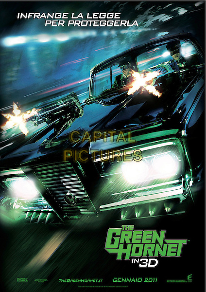 ITALIAN POSTER ART.in The Green Hornet (2011) .*Filmstill - Editorial Use Only*.CAP/FB.Supplied by Capital Pictures.