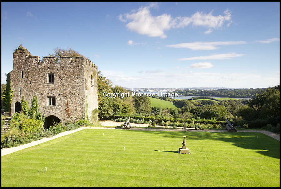 BNPS.co.uk (01202) 558833<br /> Picture: KnightFrank/BNPS<br /> <br /> ****Must use full byline****<br /> <br /> Trematon Castle sits in nine acres of beautifully landscaped gardens.<br /> <br /> They say an Englishman's home is his castle, but with this property you get two for the price of one.<br /> <br /> An enormous manor house which has an ancient castle sitting in the back garden has gone on the market for &pound;850,000.<br /> <br /> The historic Trematon Castle was built shortly after the Norman Conquest in the 11th century by Robert, Count of Mortain.<br /> <br /> It was sold to Richard, Earl of Cornwall in 1270 and since then it has been owned by the Earls and Dukes of Cornwall. Currently, it is owned by Prince Charles' Duchy of Cornwall.<br /> <br /> The 860-year-old, Grade II listed castle near Saltash in Cornwall is now in ruins but some areas are still standing, such as the keep which has 30ft high walls.