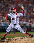 7 October 2017: Washington Nationals pitcher Oliver Perez on the mound in the second game of the NLDS against the Chicago Cubs at Nationals Park in Washington, DC. The Nationals rallied to defeat the Cubs 6-3 and even their best of five Postseason series at one game apiece. Mandatory Credit: Ed Wolfstein Photo *** RAW (NEF) Image File Available ***
