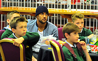 SWANSEA....<br /> WITH STORY....PREMIER LEAGUE READING STARS EVENT....<br /> THURSDAY 25th SEPTEMBER 2014<br /> Waynhe Routledge pictured during the Premier League Reading Stars event at the Liberty Stadium.