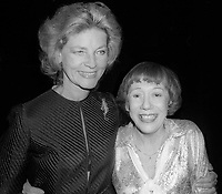Lauren Bacall and Imogene Coca 1978<br />