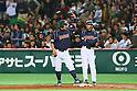 (L to R) .Shinnosuke Abe (JPN), . Koichi Ogata (JPN), .MARCH 2, 2013 - WBC : .2013 World Baseball Classic .1st Round Pool A .between Japan 5-3 Brazil .at Yafuoku Dome, Fukuoka, Japan. .(Photo by YUTAKA/AFLO SPORT) [1040]