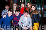 Anthony Barrett, Alan Culhane, Nigel O'Callaghan, back row: Brian o'Gorman, Sheila Fitzpatrick, Laura O'Neill, Megan Fitzgibbon and Ciara Linehan Lisselton celebrating New Years Eve in the Grand Hotel Killarney