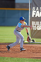 Gabe Huante (10) of Lutheran High School of Orange County in Yorba Linda, California during the Baseball Factory All-America Pre-Season Tournament, powered by Under Armour, on January 14, 2018 at Sloan Park Complex in Mesa, Arizona.  (Zachary Lucy/Four Seam Images)