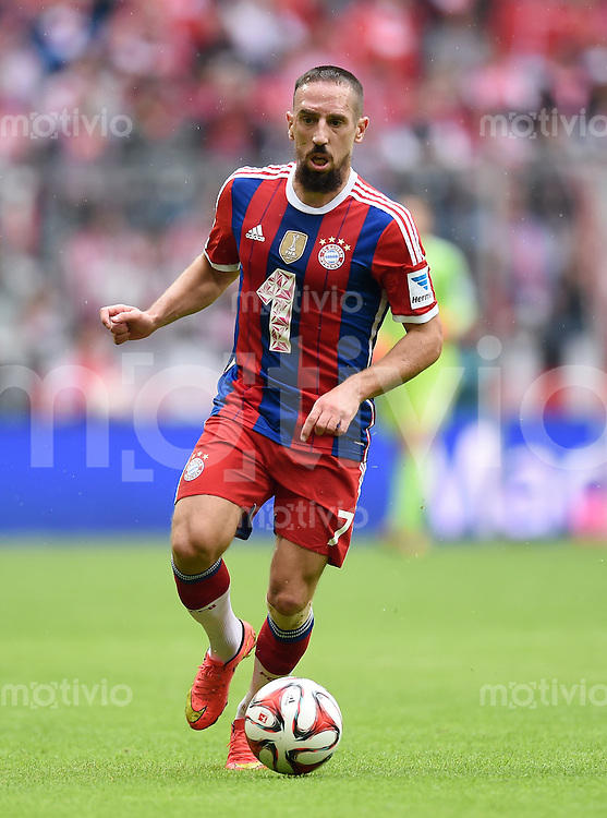 Fussball  1. Bundesliga  Saison 2014/2015   3. SPIELTAG FC Bayern Muenchen - VfB Stuttgart       13.09.2014 Franck Ribery (FC Bayern Muenchen) am Ball