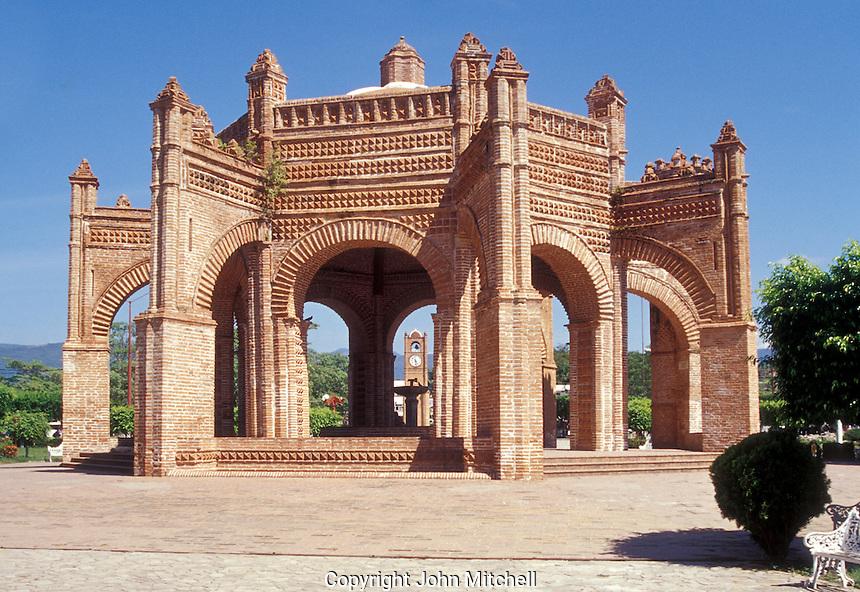 La Pila. a Mudejar and Gothic style fountain in the main plaza of Chiapa de Corzo, Chiapas, Mexico
