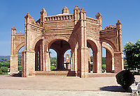 La Pila. a Mudejar and Gothic style fountain in the main plaza of Chiapa de Corzo, Chiapas, Mexico