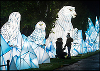 BNPS.co.uk (01202 558833)<br /> Pic: PhilYeomans/BNPS<br /> <br /> Longleat House has been transformed into a world full of spectacular fantasy and fairytales for its popular Festival of Light this winter.<br /> <br /> Featuring Little Red Riding Hood, Goldilocks, Hansel and Gretel and even a life size floating Galleon, the festival is the oldest and largest in the UK.<br /> <br /> The stunning display using 30,000 metres of silk has been constructed by a team of highly skilled artisan's from the village of Zigong in Sichuan Province, China, which has a 2000 year tradition of lantern festivals.