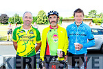 Moss Mckenna, Mike McKenna and Anthony O'donoghue at the Ring of the Reeks cycle in Beaufort on Saturday