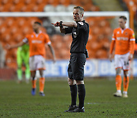 Referee Martin Coy<br /> <br /> Photographer Dave Howarth/CameraSport<br /> <br /> The EFL Sky Bet League One - Blackpool v Wycombe Wanderers - Tuesday 29th January 2019 - Bloomfield Road - Blackpool<br /> <br /> World Copyright © 2019 CameraSport. All rights reserved. 43 Linden Ave. Countesthorpe. Leicester. England. LE8 5PG - Tel: +44 (0) 116 277 4147 - admin@camerasport.com - www.camerasport.com