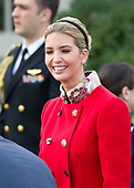 """Ivanka Trump arrives prior to United States President Donald J. Trump and First Lady Melania Trump hosting the National Thanksgiving Turkey Pardoning Ceremony in the Rose Garden of the White House in Washington, DC on Monday, November 20, 2017.  According to the White House Historical Association, the ceremony originated in 1863 when US President Abraham Lincoln's granted clemency to a turkey. The tradition jelled in 1989 when US President George HW Bush stated """"But let me assure you, and this fine tom turkey, that he will not end up on anyone's dinner table, not this guy -- he's granted a Presidential pardon as of right now -- and allow him to live out his days on a children's farm not far from here.""""<br /> Credit: Ron Sachs / CNP"""