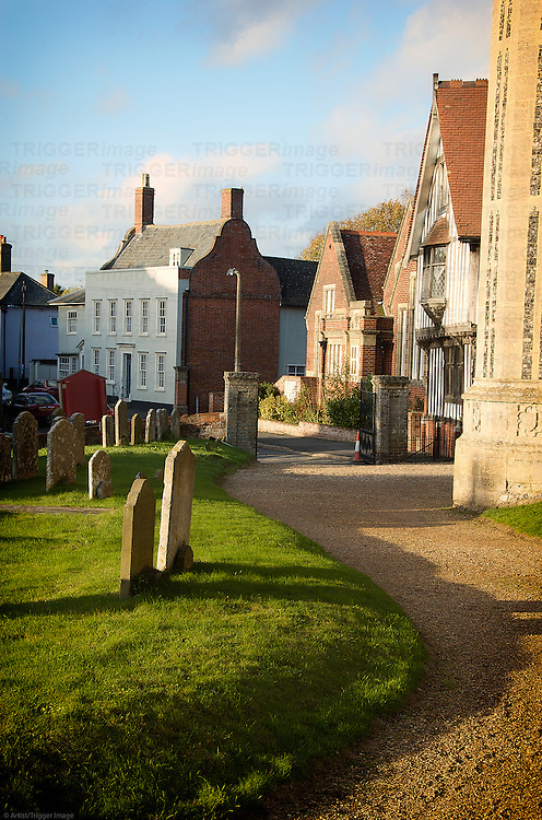 Architectural styles of houses in Eye, Suffolk, England