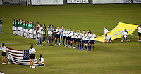 Mexico and USA starting eleven teams during the semifinal match of CONCACAF Women's World Cup Qualifying tournament held at Estadio Quintana Roo in Cancun, Mexico. Mexico 2, USA 1.