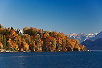 Lake Lucerne and autumn colors, Lucerne, Switzerland