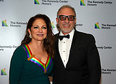 Gloria Estefan and Emilio Estefan arrive for the formal Artist's Dinner honoring the recipients of the 41st Annual Kennedy Center Honors hosted by United States Deputy Secretary of State John J. Sullivan at the US Department of State in Washington, D.C. on Saturday, December 1, 2018. The 2018 honorees are: singer and actress Cher; composer and pianist Philip Glass; Country music entertainer Reba McEntire; and jazz saxophonist and composer Wayne Shorter. This year, the co-creators of Hamilton­ writer and actor Lin-Manuel Miranda, director Thomas Kail, choreographer Andy Blankenbuehler, and music director Alex Lacamoire will receive a unique Kennedy Center Honors as trailblazing creators of a transformative work that defies category.<br /> Credit: Ron Sachs / Pool via CNP