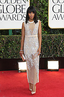 BEVERLY HILLS, CA - JANUARY 13: Kerry Washington at the 70th Annual Golden Globe Awards at the Beverly Hills Hilton Hotel in Beverly Hills, California. January 13, 2013. Credit: mpi29/MediaPunch Inc. /NortePhoto