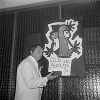 Le chanteur et comedien Claude Blanchard, Gala des Artistes, 1970<br />  (date exacte inconnue)<br /> <br /> PHOTO :  Agence Quebec Presse - Roland Lachance