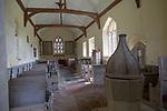 Historic interior unchanged since 18th century, Church of Saint Mary, Badley, Suffolk, England, UK