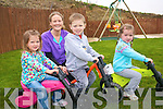 Children at First Steps Montessori School in Castleisland  are improving their co-ordination and balance with the YBike Motor Skill Programme. . Proprietor Maura Cronin with .L-R Aimee Browne, Ayrton Burke and Ella Mai Walsh