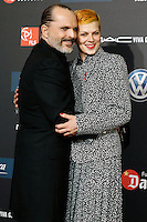 Spanish model Bimba Bose with her uncle and singer Miguel Bose during Barcelona 5th AIDS Ceremony. November 24,2014.(ALTERPHOTOS/Acero) /NortePhoto<br />