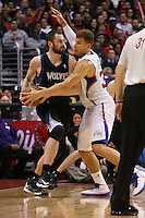 11/28/12 Los Angeles, CA: Minnesota Timberwolves power forward Kevin Love #42  during an NBA game between the Los Angeles Clippers and the Minnesota Timberwolves played at Staples Center where the Clippers defeated the Timberwolves 101-95.