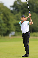 Victor Perez (FRA) plays his 2nd shot on the 16th hole during Sunday's Final Round of the Northern Ireland Open 2018 presented by Modest Golf held at Galgorm Castle Golf Club, Ballymena, Northern Ireland. 19th August 2018.<br /> Picture: Eoin Clarke | Golffile<br /> <br /> <br /> All photos usage must carry mandatory copyright credit (&copy; Golffile | Eoin Clarke)