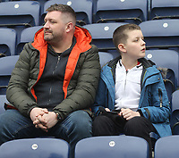 Preston North End's Fans anticipate the kick-off<br /> <br /> Photographer Mick Walker/CameraSport<br /> <br /> The EFL Sky Bet Championship - Preston North End v Bristol City - Saturday 2nd March 2019 - Deepdale Stadium - Preston<br /> <br /> World Copyright © 2019 CameraSport. All rights reserved. 43 Linden Ave. Countesthorpe. Leicester. England. LE8 5PG - Tel: +44 (0) 116 277 4147 - admin@camerasport.com - www.camerasport.com