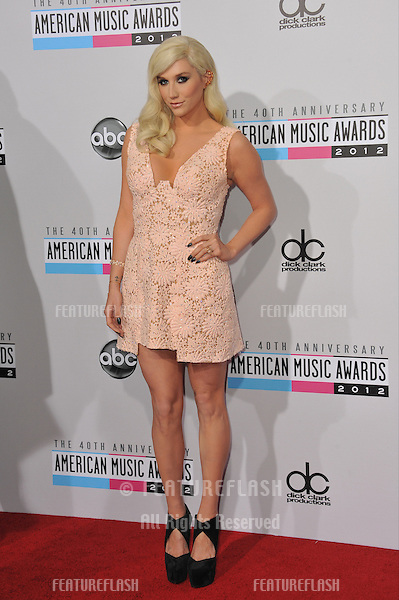 Ke$ha at the 40th Anniversary American Music Awards at the Nokia Theatre LA Live..November 18, 2012  Los Angeles, CA.Picture: Paul Smith / Featureflash