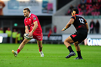 Paul Asquith of Scarlets in action during the Guinness Pro14 Round 5 match between Scarlets and Isuzu Southern Kings at the Parc Y Scarlets in Llanelli, Wales, UK. Saturday 29 September 2018