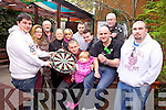 Pictured were: Dylan Kelly, Sinead McCarthy, Albert O'Brien, Martina McCarthy, Samantha Breewood, Anthony O'Connor, Emmet McCarthy, Christy Kelly and Dwayne Kelly. On Sunday the 15th of December, darts enthusiasts will have the chance to compete in a charity tournament for the prestigious McCarthy memorial Cup in the Huddle Bar, Strand Street, Tralee. Pictured were: Dylan Kelly, Sinead McCarthy, Albert O'Brien, Martina McCarthy, Samantha Breewood, Anthony O'Connor, Emmet McCarthy, Christy Kelly and Dwayne Kelly.