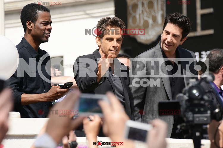Chris Rock, Ben Stiller and David Schwimmer attending the Madagaskar III photocall at Carlton hotel during Cannes International Film Festival in Cannes, France, 17.05.2012..Credit: Timm/face to face /MediaPunch Inc. ***FOR USA ONLY***