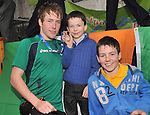 Con with his younger brothers Ethan and Aaron at the welcome home celebration...Pic Conor McKeown