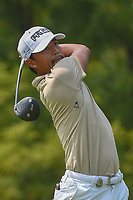 Satoshi Kodaira (JPN) watches his tee shot on 12 during 4th round of the 100th PGA Championship at Bellerive Country Club, St. Louis, Missouri. 8/12/2018.<br /> Picture: Golffile   Ken Murray<br /> <br /> All photo usage must carry mandatory copyright credit (© Golffile   Ken Murray)