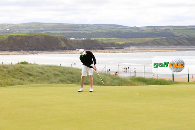David Byrne (Athenry) on the 3rd during Round 2 of The South of Ireland in Lahinch Golf Club on Sunday 27th July 2014.<br /> Picture:  Thos Caffrey / www.golffile.ie