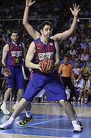 14.06.2013 Bacelona, Spain. Liga Endesa Play Off titulo. Picture show Lorbek in action during game betwen FC BArcelona v Real Madrid at Palau Blaugrana
