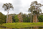 Towers Across From  Angkor Thom