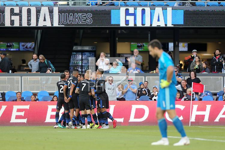 San Jose, CA - Saturday August 25, 2018: Jahmir Hyka during a Major League Soccer (MLS) match between the San Jose Earthquakes and Vancouver Whitecaps FC at Avaya Stadium.